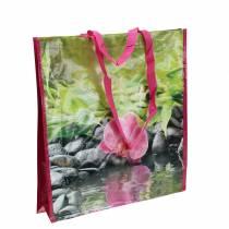 Sac shopping avec poignées Bonheur plastique 38 × 10 × 40cm
