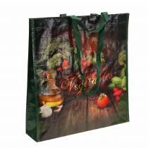 Sac shopping avec poignées Légumes en plastique 38 × 10 × 39cm