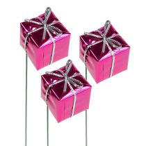 Paquet 2.5cm sur le fil rose 60pcs