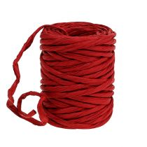 Cordon en papier renforcé 6 mm 23 m rouge
