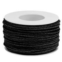 Cordon papier fil enroulé Ø2mm 100m noir