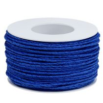 Cordon papier enroulé de fil Ø2mm 100m bleu