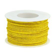 Cordelette de papier armé Ø 2 mm 100 m jaune
