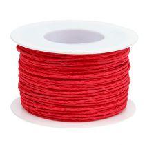 Fil de cordon papier enveloppé de Ø2mm 100m rouge