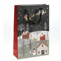 Sac cadeau Sac en papier Village de Noël H30cm 2pcs