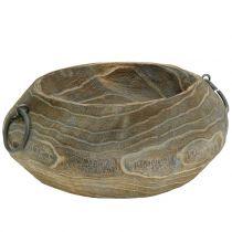 Coupe déco en bois de paulownia 23cm x 21cm H9cm