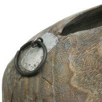 Cache-pot de l'arbre bleu-cloche gris délavé H18cm