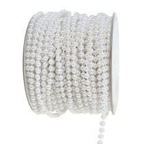 Ruban de perles blanc Ø4mm 20m