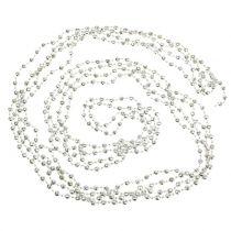 Collier de perles, collier de sapin de Noël vert clair 7m