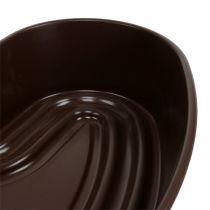 """Coeur végétal """"Amora"""" marron 35 x 35cm, 1p"""