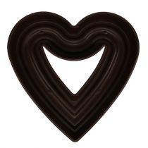 """Coeur de plante """"Amora"""" 45cm marron, 1p"""