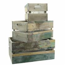 Jardinière en bois boîte 45/39 / 34,5cm 3pcs
