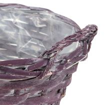 Panier à plantes rond, violet Ø20cm H10cm