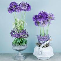 Pot à fleurs gobelet aspect antique gris Ø21cm H21cm