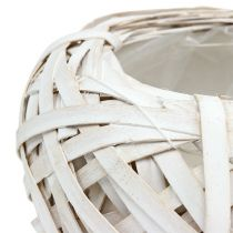 Coupelle à plantes blanche Ø 20 cm H. 9 cm