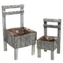Chaises pour plantation, jardinière, décoration de jardin Shabby Chic, blanchi à la chaux lot de 2
