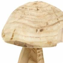 Champignons bois de paulownia Ø16cm H18cm