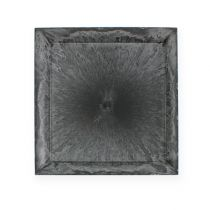 Assiette en plastique anthracite carré 31 x 31 cm
