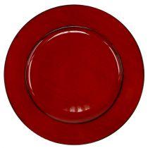 Assiette plastique Ø33cm rouge-noir