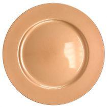 Assiette plastique cuivre Ø33cm