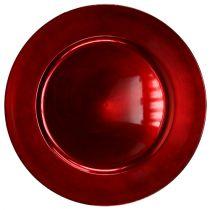 Assiette en plastique rouge Ø 17 cm 10 p.