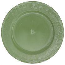 Assiette de présentation verte Ø30cm