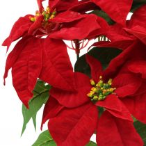 Etoile de Noël artificielle fleurs artificielles rouges en pot H53cm