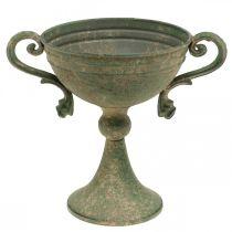 Tasse avec anses, gobelet en métal, amphore à planter Ø14cm H18cm
