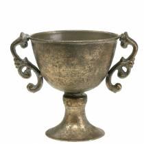 Coupe métal doré antique Ø14cm H16cm