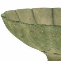 Bol coupe vert antique Ø13cm H11,5cm