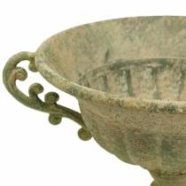 Bol coupe vert antique Ø26cm H20,5cm
