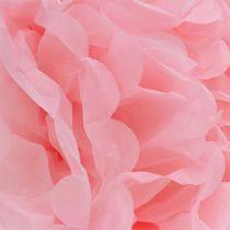 Pom-pom de papier Rose clair Ø30cm 5pcs
