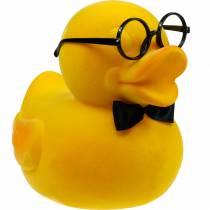Canard décoratif à lunettes jaune, décoration d'été drôle, canard décoratif floqué