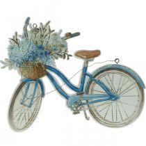 Enseigne déco bois bicyclette été enseigne déco à accrocher bleu, blanc 31 × 25cm
