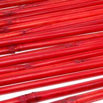 Manches en rotin rouge 100cm 20p.