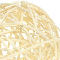 Boule en rotin blanchie Ø 7,5 cm 15 p.