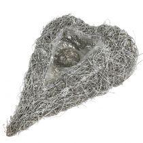 Cœur à garnir en sarments de vigne blanchi 35 x 23 cm 1 p.