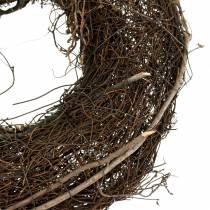 Couronne en sarments de vigne avec osier naturel Ø 30 cm 2 p.