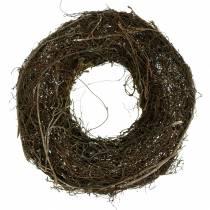 Couronne en sarments de vigne avec osier naturel Ø 40 cm