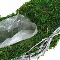 Bague plante couronne de mousse avec vignes et vert mousse, blanc Ø35cm