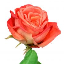 Rose artificielle saumon 67,5 cm