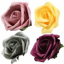 Mousse Rose Ø15cm différentes couleurs 4pcs