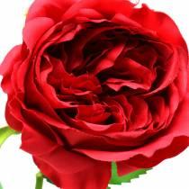 Fleur artificielle rose rouge 72cm