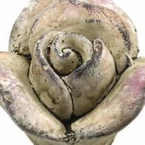 Béton rose gris, violet Ø7.7 H5.5cm 3pcs