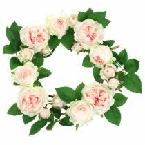 couronne de roses rose Ø35cm