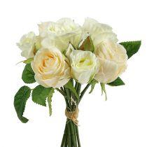 Bouquet de roses crème 26cm