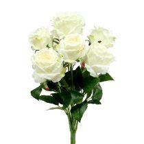 Bouquet de roses blanc, crème 55cm