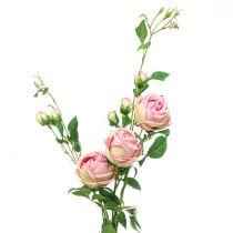 Branche de rose rose 100cm
