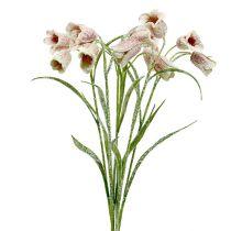 Echecs Fleurs Blanc-Rose Neige L45cm 6pcs