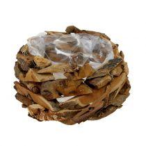 Coupe nature en morceaux de bois Ø 28 cm H. 16 cm